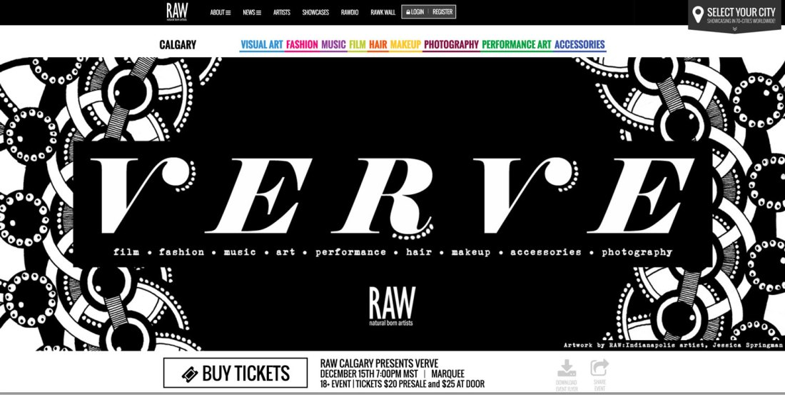 Felipe Alberto performs at RAW CALGARY – VERVE