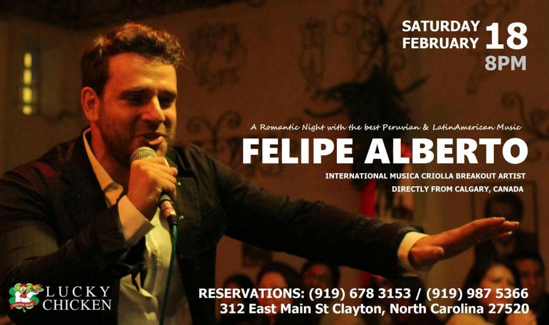 Felipe Albert in Concert at Lucky Chicken