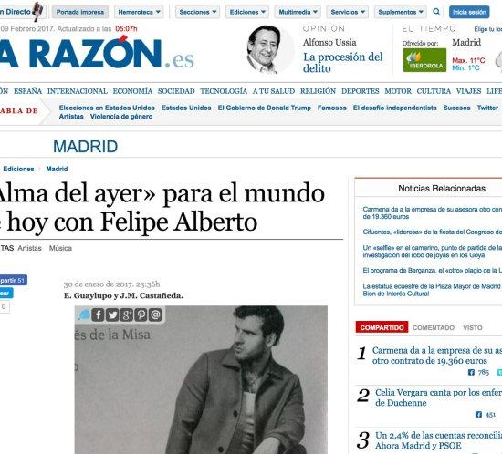 Alma del Ayer featured in La Razón