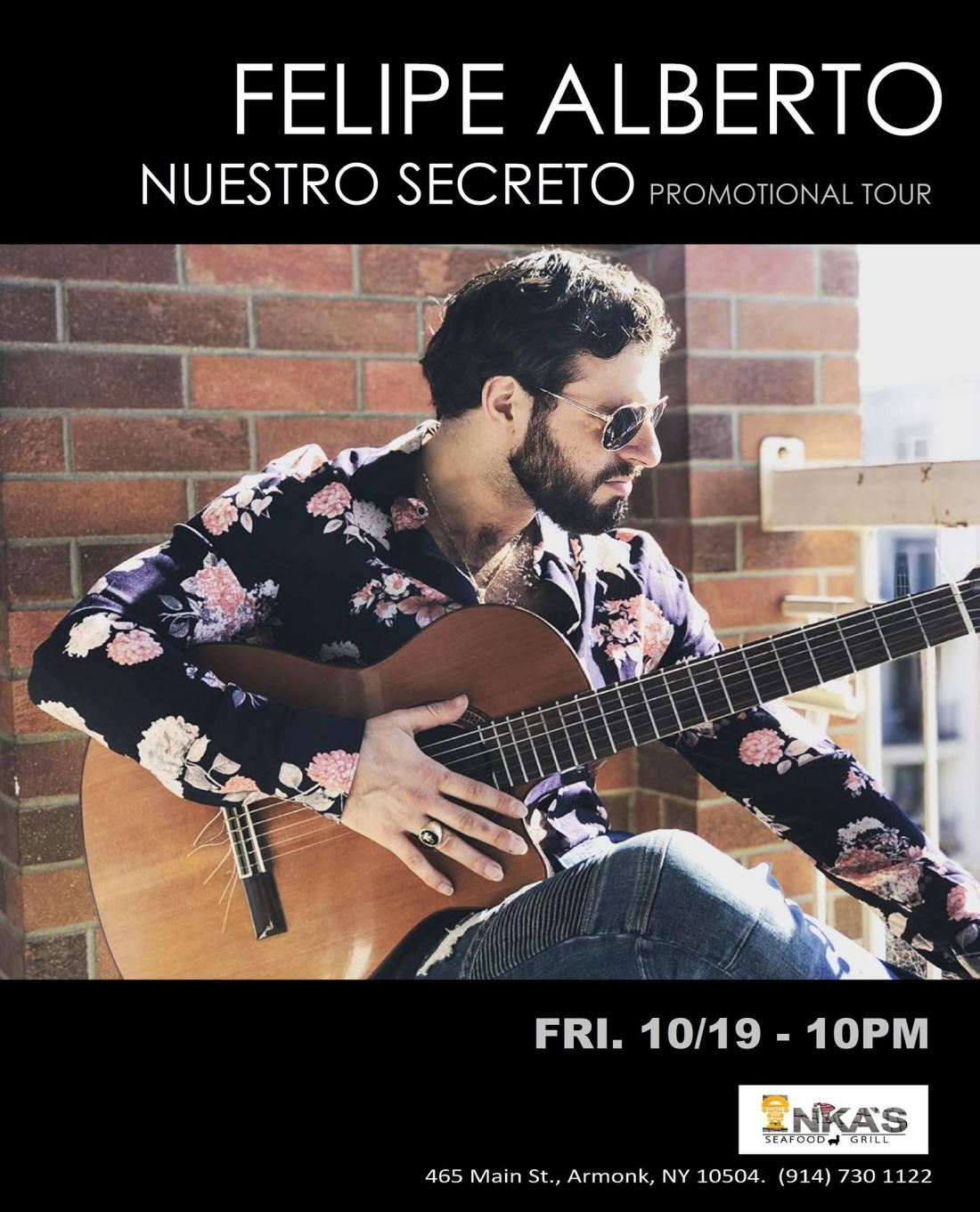 Felipe Alberto - Nuestro Secreto Promotional Tour October 2018