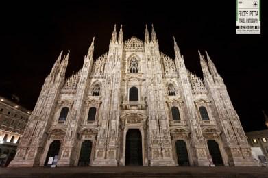 Milan Cathedral Duomo di Milano Italy Facade Night