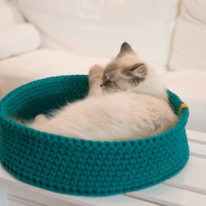 legowisko dla kota ze sznura okrągłe
