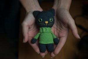 maskotka kot sweter dla kota