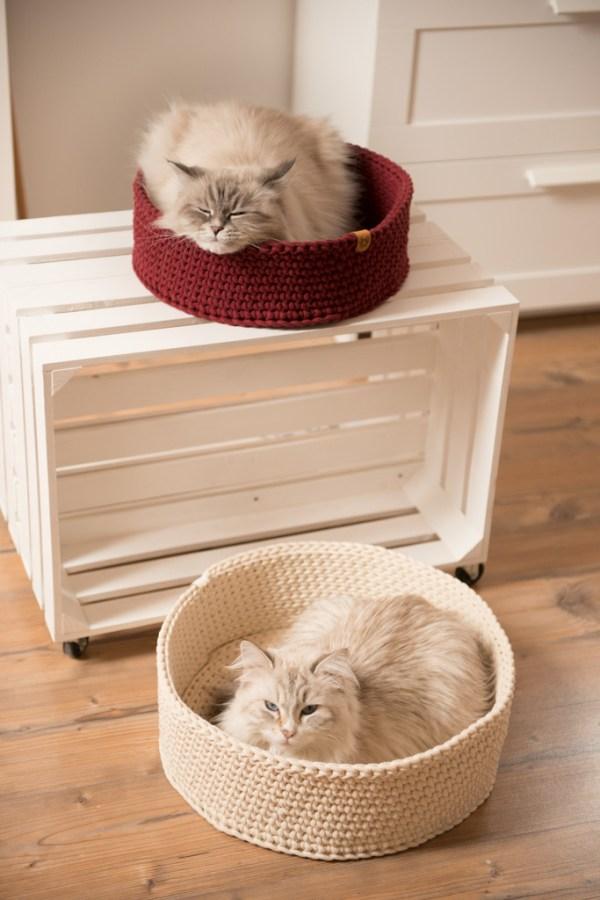 Legowisko dla kota ze sznurka okrągłe