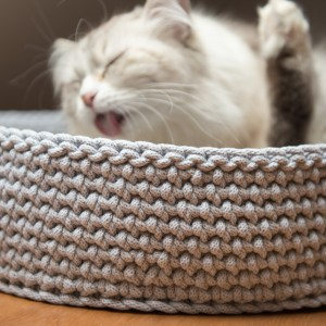 legowisko dla kota szare