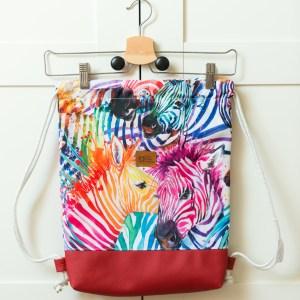 worek plecak zebry wodoodporny
