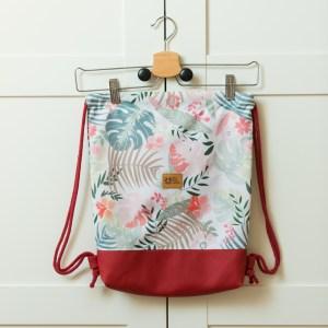 worek wodoodporny liscie i kwiaty