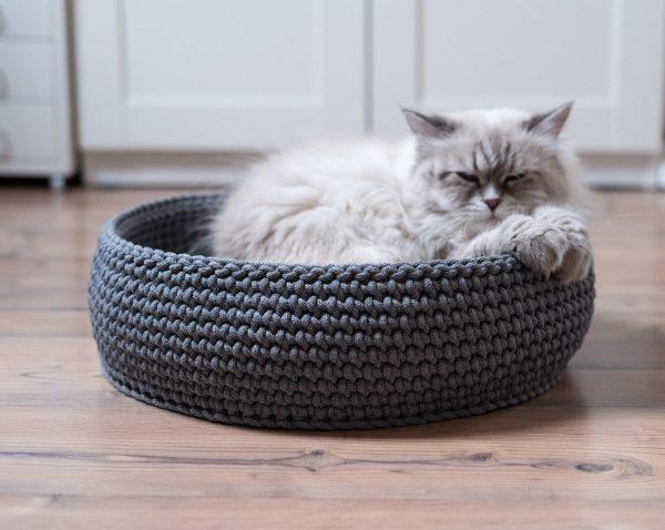 legowisko dla kota Cat Nest ciemny szary
