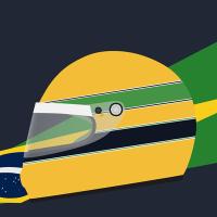 Design: Ayrton Senna's Helmet (1990-ish)