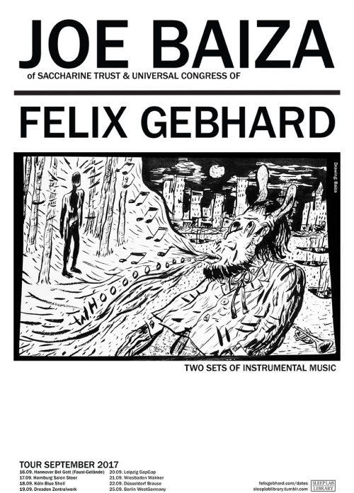 Joe Baiza & Felix Gebhard - Tour September 2017