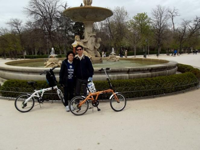 We cycled around