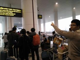Taxi queue at Noi Bai airport