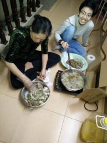 Prepared fish cake with mom
