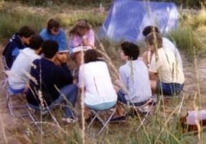 Reunión de preparación en acampada del Olivar, en La Dehesa de Letur