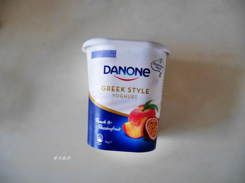 好市多|Costco水蜜桃百香果希臘式優格Danone Yogurt,香甜可口有果粒,Costco必買好物