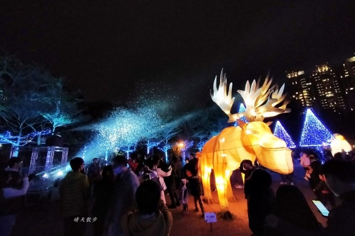 台中燈會|2020台灣燈會在台中,副展區文心森林公園戽斗星球動物晚上也好拍,還有人造雪喔!