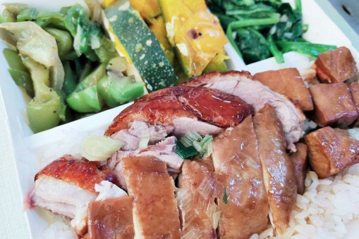 西區便當|香港鑫記燒肉快餐~各式燒臘、烤鴨便當好好吃,便當附湯一碗,配合UberEats外送