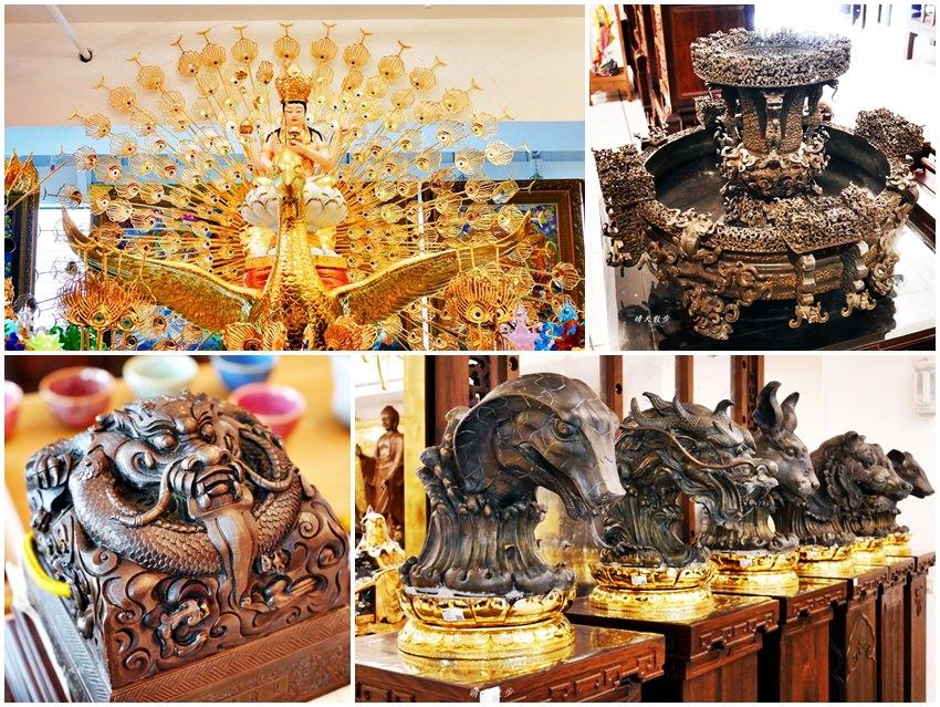 台中景點|盛凡近代宗教雕塑展覽中心~走訪大里,來趟東方宗教藝術文化之旅吧!免費參觀導覽,體驗天鼓演奏,另有抄寫心經與金印取印體驗