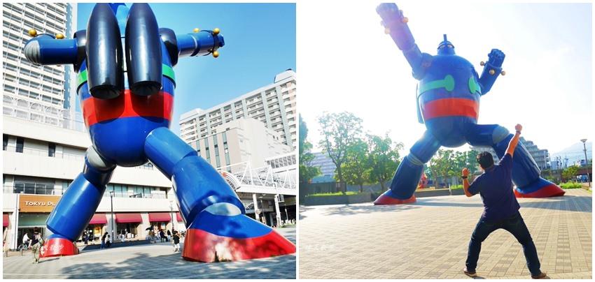 神戶景點|鐵人28號巨型紀念人像~日本漫畫家橫山光輝作品鐵人28號主角,神戶新長田站若松公園