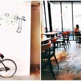 特色超商|全家便利商店台中新美村店~二樓有咖啡館風格的休憩區