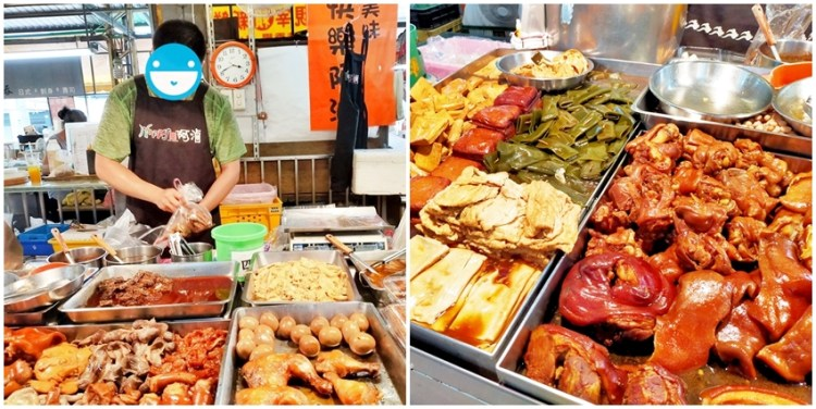 文心第一黃昏市場 快樂阿滷~菜市場裡的美味滷雞爪、鴨脖、滷味