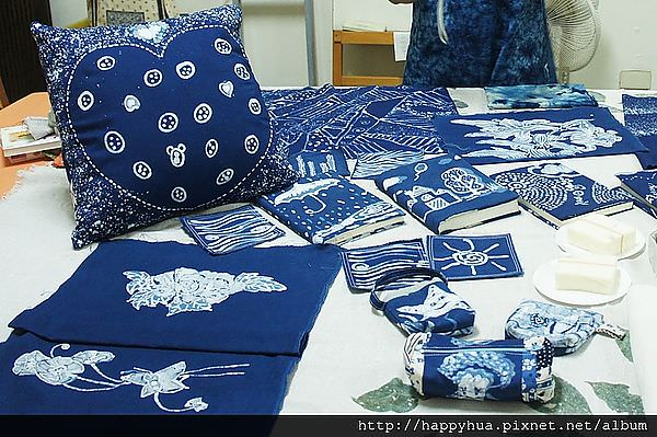 【藍染真好玩】台中荒野藍染課~蠟染布作成果分享