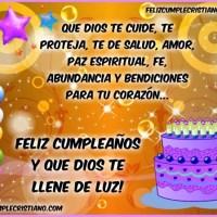 Que Dios te llene de Luz, Feliz cumpleaños!