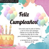 +20 Imágenes de cumpleaños con versículos