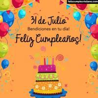 Imágenes cristianas de cumpleaños con los días de Julio
