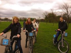 We rented bikes and rode them through Hyde Park - highly recommended!