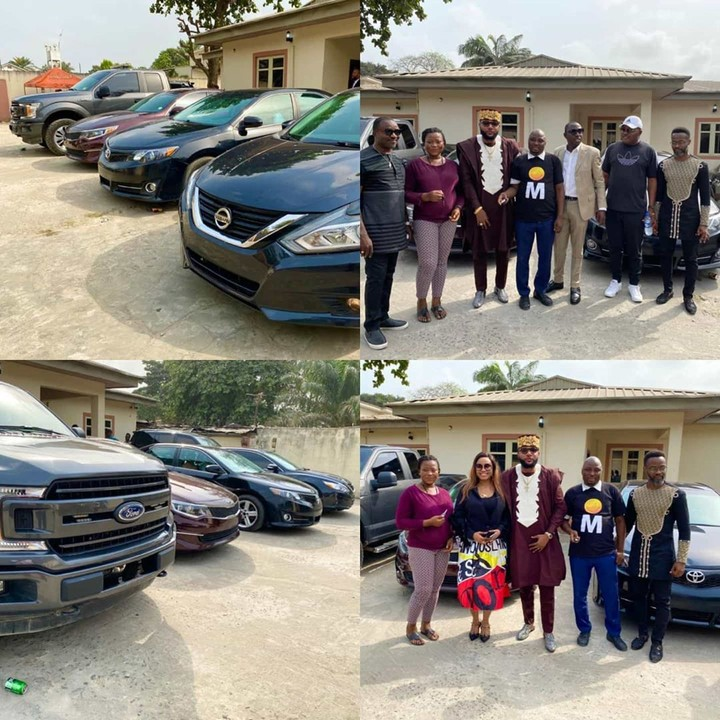 E-money gifts cars to his employees as he celebrate 39th birthday