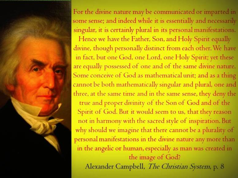 Alexander Campbell on the Godhead1