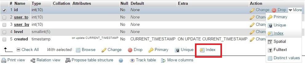 Auto increment non primary key column in phpMyAdmin