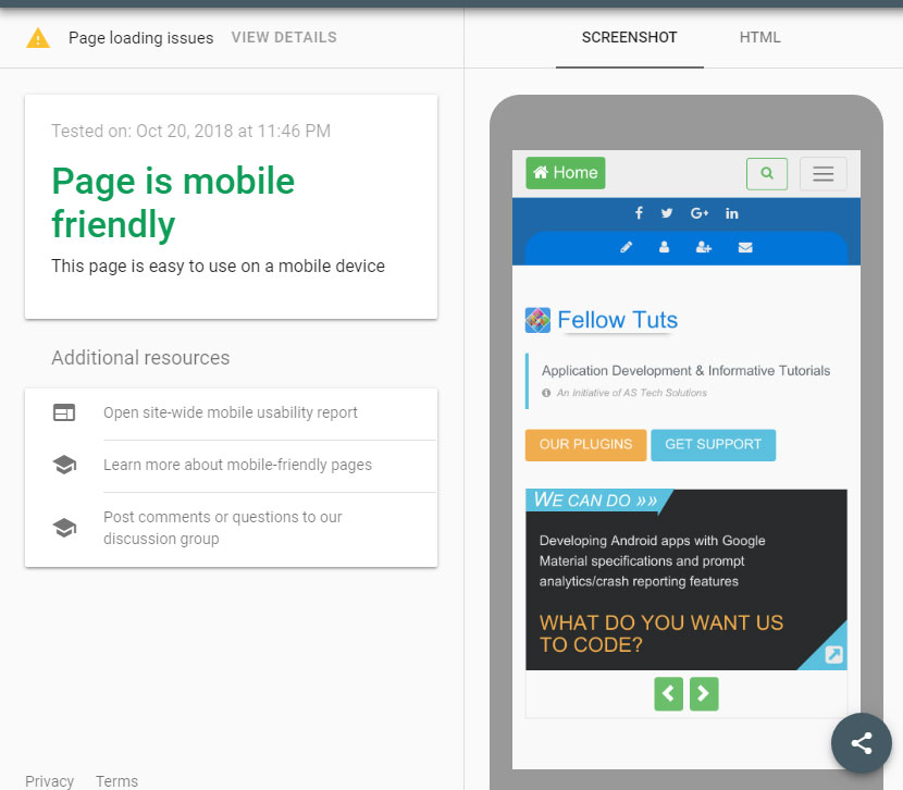 Optimize Website for Mobile