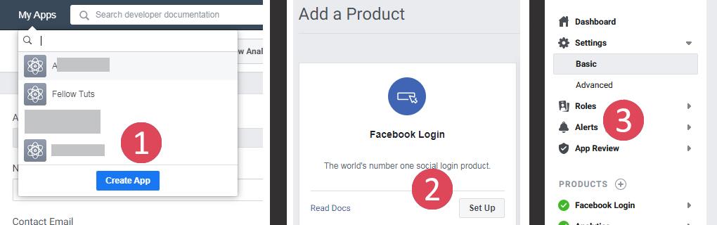 Facebook App Login Sign Up Website
