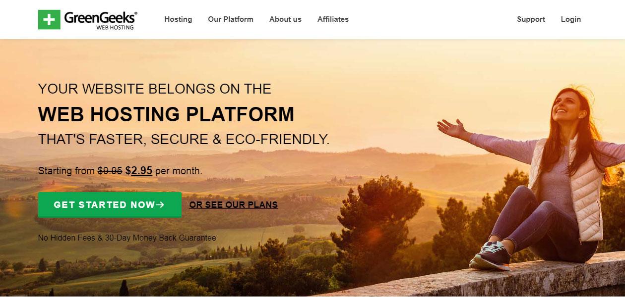 GreenGeeks Beginner Website Hosting