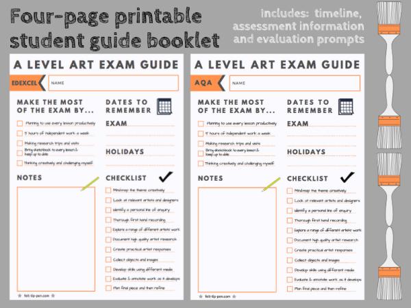 A level art guide student booklet