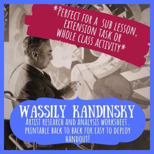 Kandinsky artist study worksheet