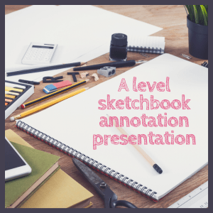 Sketchbook annotation advice presentation