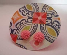Pretty flower earrings -Bright Pink