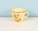 Soy teacup candle - blue and purple flowers