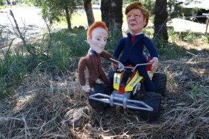 Needle Felted Conan O'Brien & Donald Trump Dolls