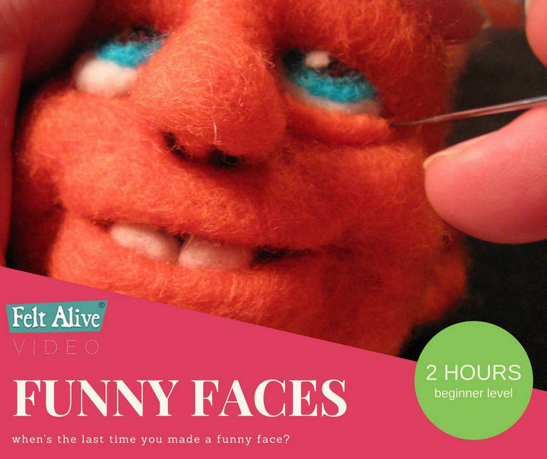 Felt Alive Funny Faces Needle Felting Video Tutorial
