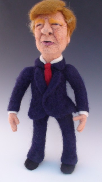 Needle Felted Donald Trump Doll by Kay Petal