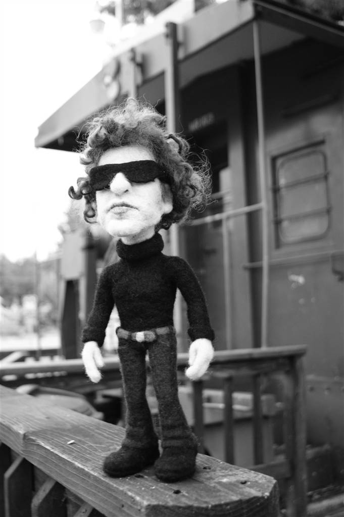 Needle Felted Bob Dylan Doll - by Kay Petal - Felt Alive Wool Sculptures
