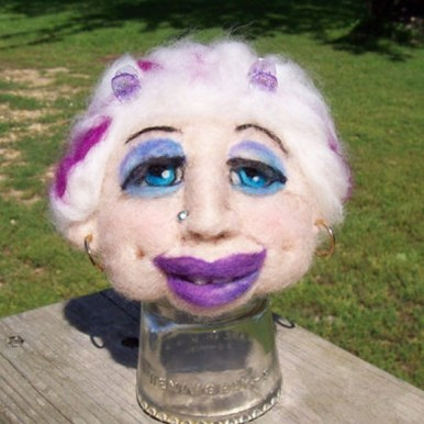 Student Project - needle felted faces