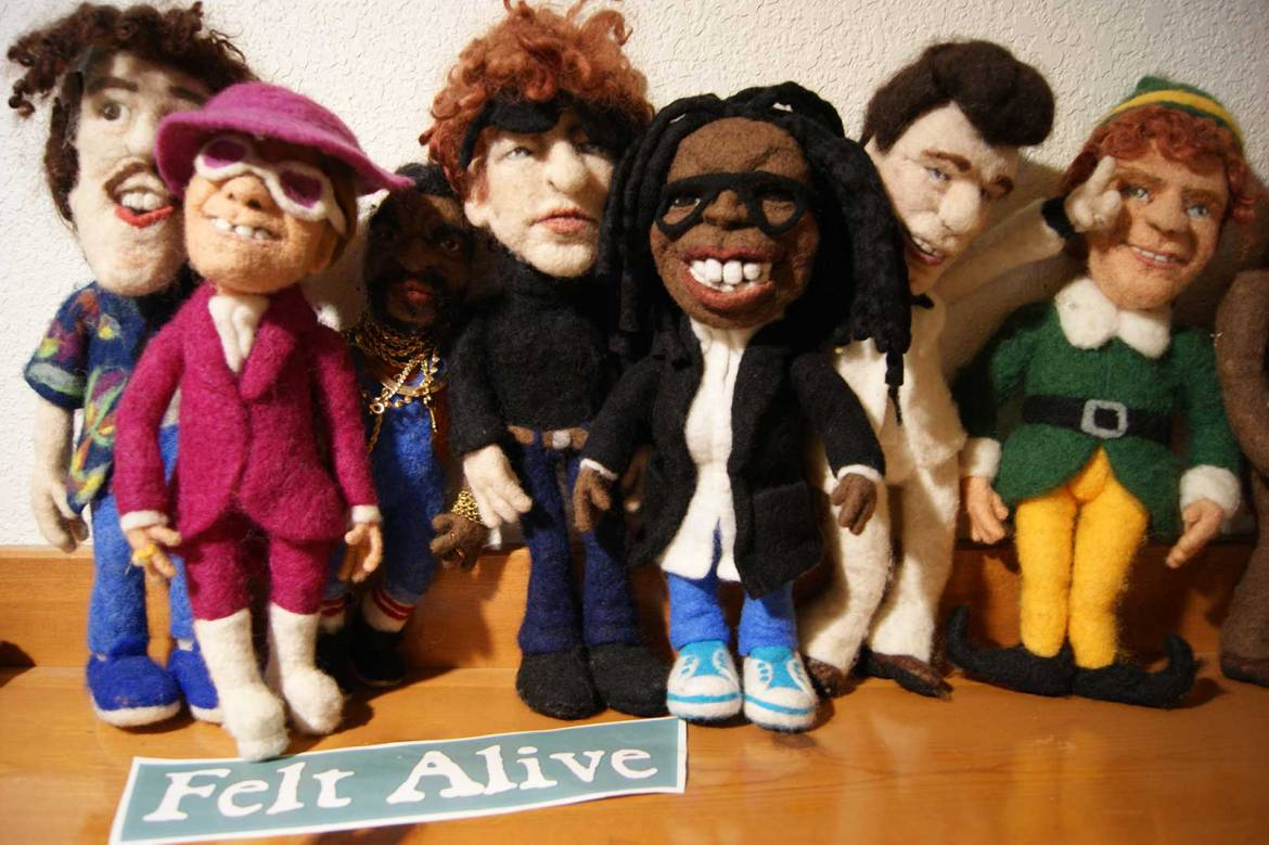 felt alive needle felted dolls by kay petal