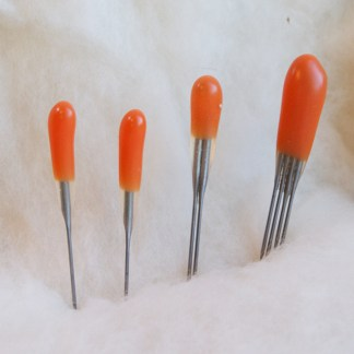 orange beginner felting needle pack