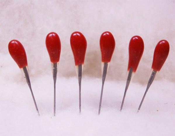 Red Multi-Purpose 42 star Felting Needles 6 Pack