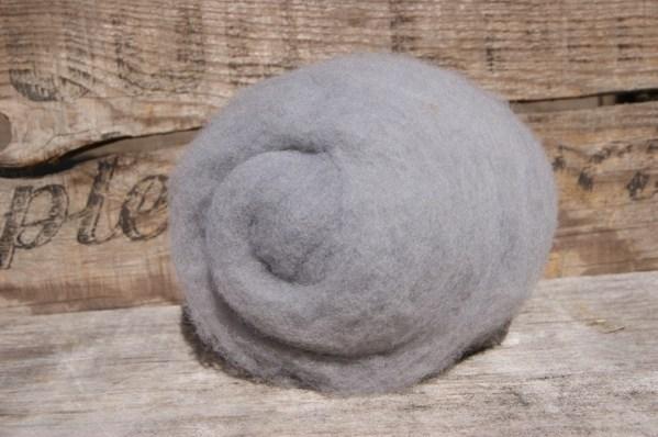 Dyed Wool Batting Gray